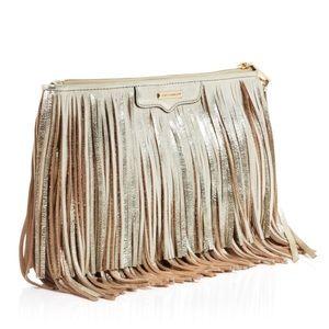 Rebecca Minkoff Finn Metallic Fringe Crossbody Bag